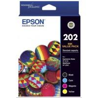 Epson 202 Ink Cartridges Value Pack 4 Standard-capacity